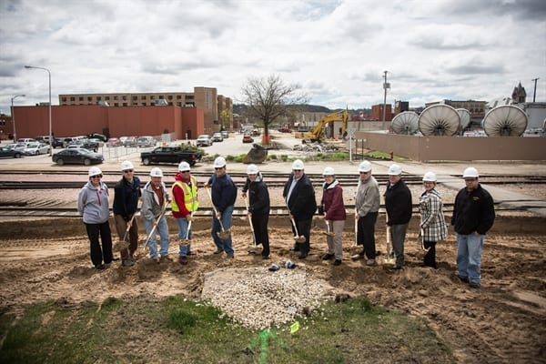 Levee Ground Breaking Ceremony